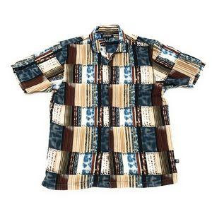 Stacy Adams Multi Color Linen Button Up Shirt